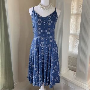 Old Navy strappy fit and flare cami sundress
